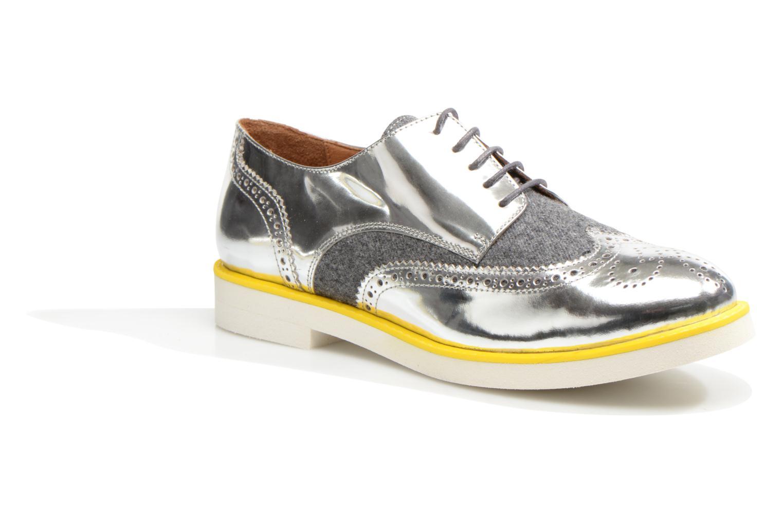Zapatos con cordones Made by SARENZA Busy Girl Chaussures à Lacets #3 Plateado vista lateral derecha