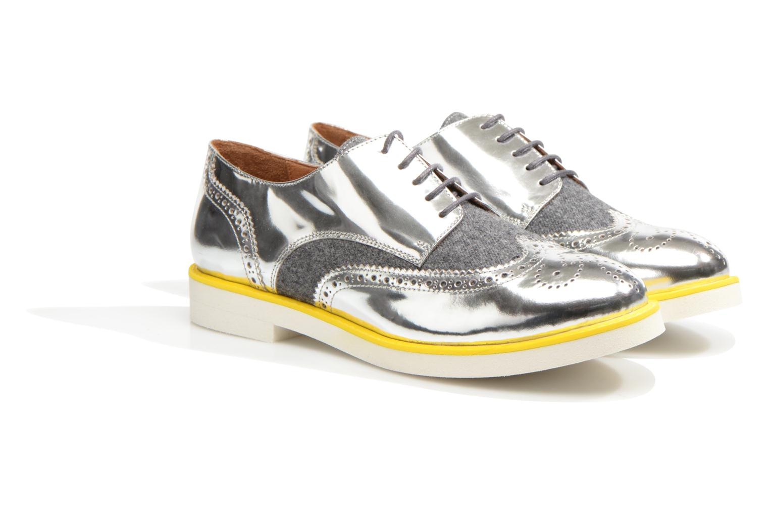 Zapatos con cordones Made by SARENZA Busy Girl Chaussures à Lacets #3 Plateado vistra trasera