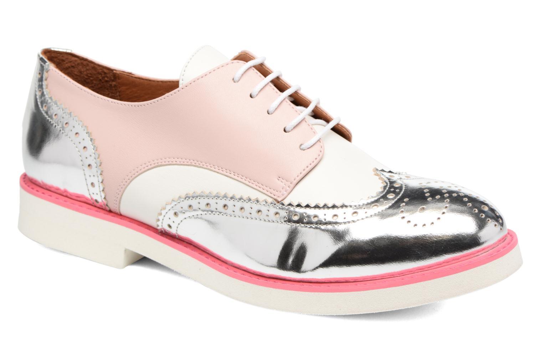 Zapatos con cordones Made by SARENZA Partygloo #3 Rosa vista lateral derecha