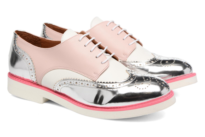 Zapatos con cordones Made by SARENZA Partygloo #3 Rosa vistra trasera