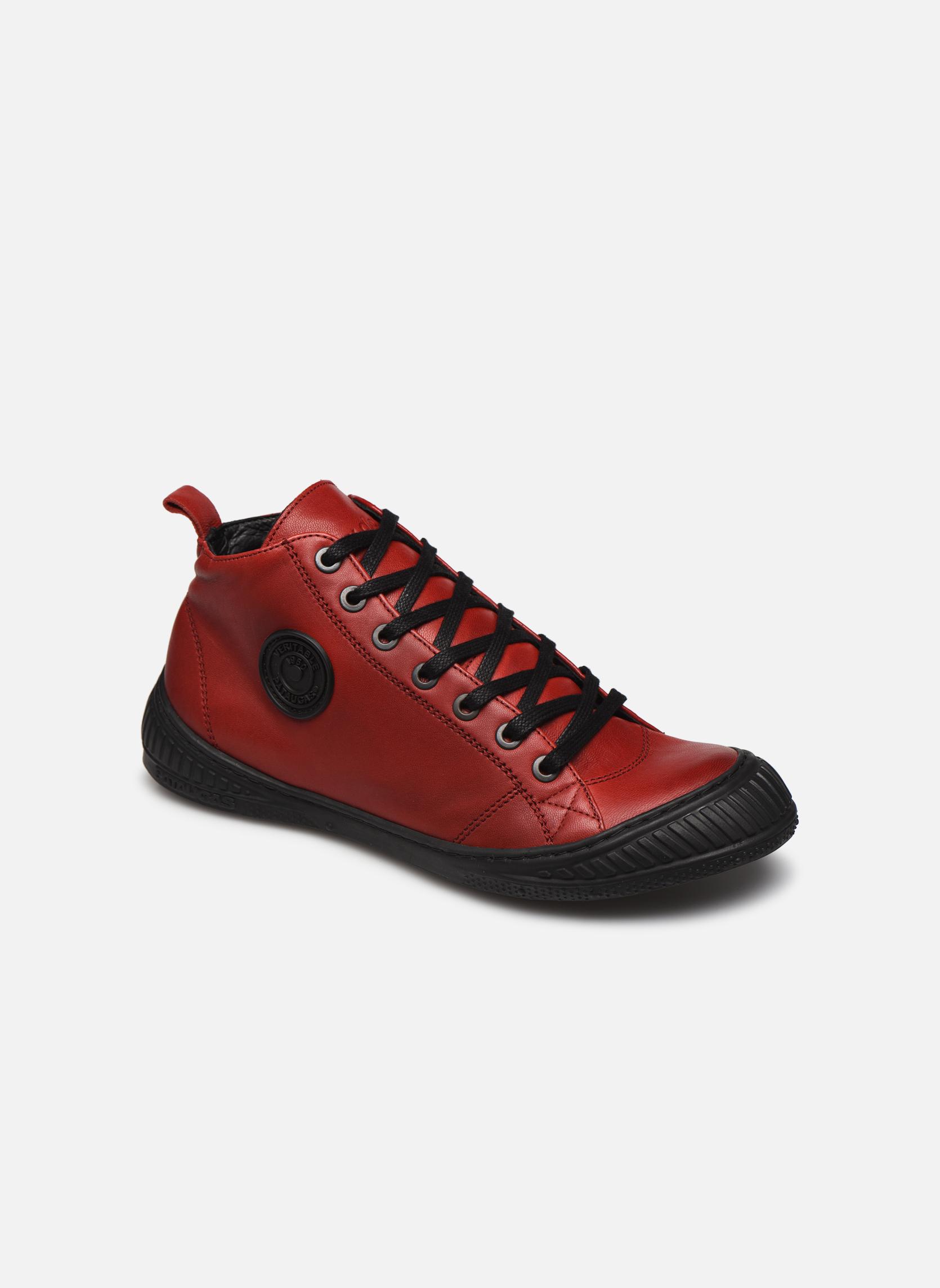 Baskets Pataugas RockerN Rouge vue détail/paire