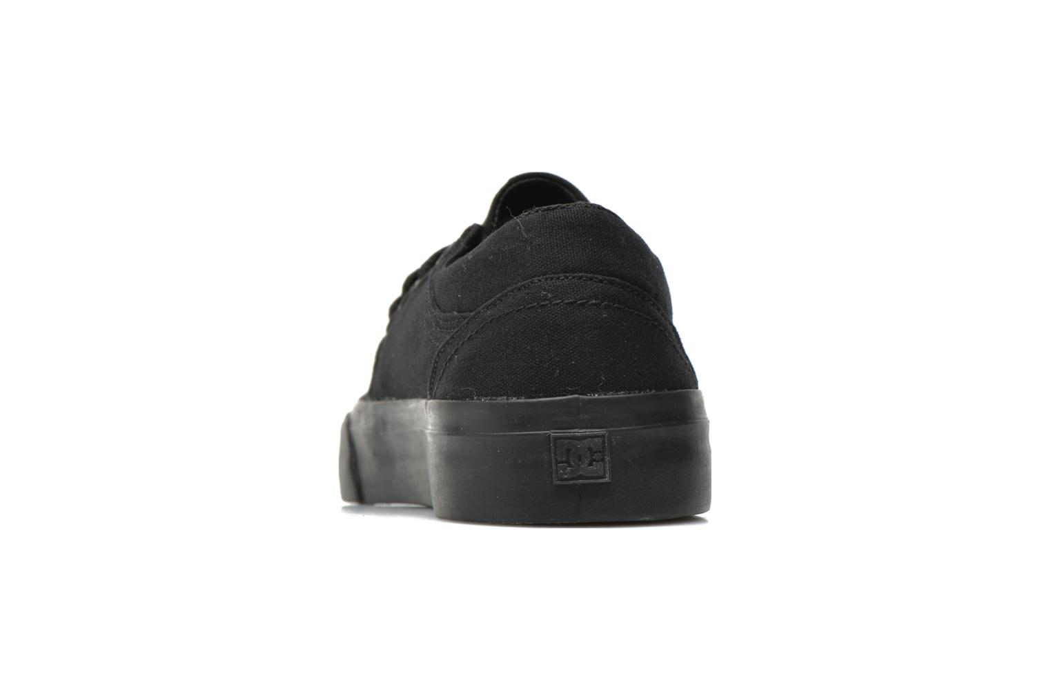 Deportivas DC Shoes TRASE TX Kids Negro vista lateral derecha