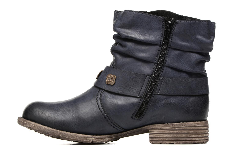 Boots en enkellaarsjes Rieker Myla 74798 Blauw voorkant