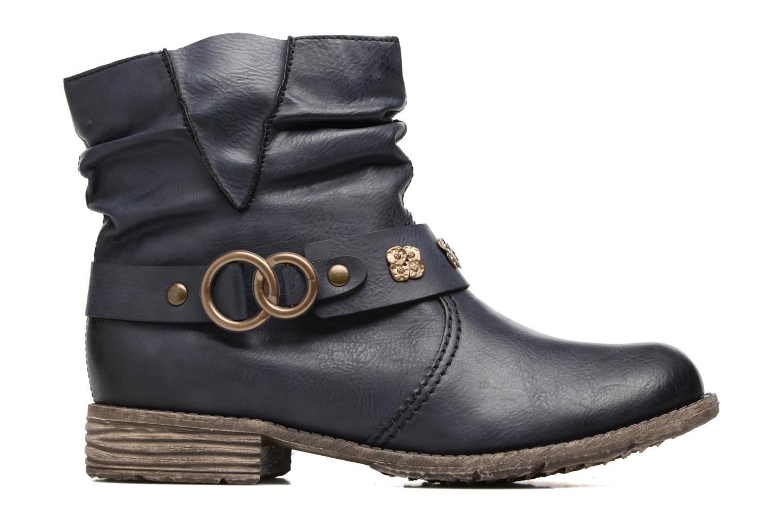 Boots en enkellaarsjes Rieker Myla 74798 Blauw achterkant