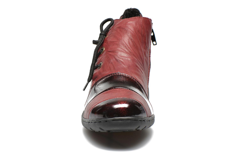 Chaussures à lacets Rieker Fleur L4334 Bordeaux vue portées chaussures