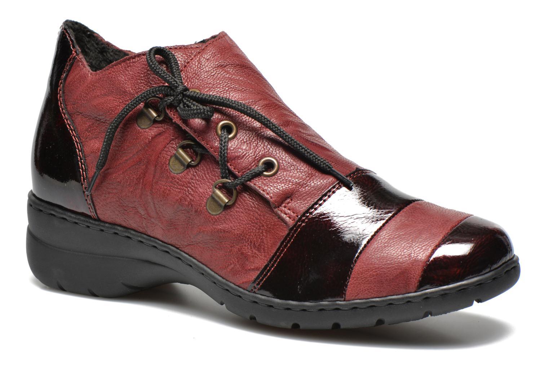 Chaussures à lacets Rieker Fleur L4334 Bordeaux vue détail/paire