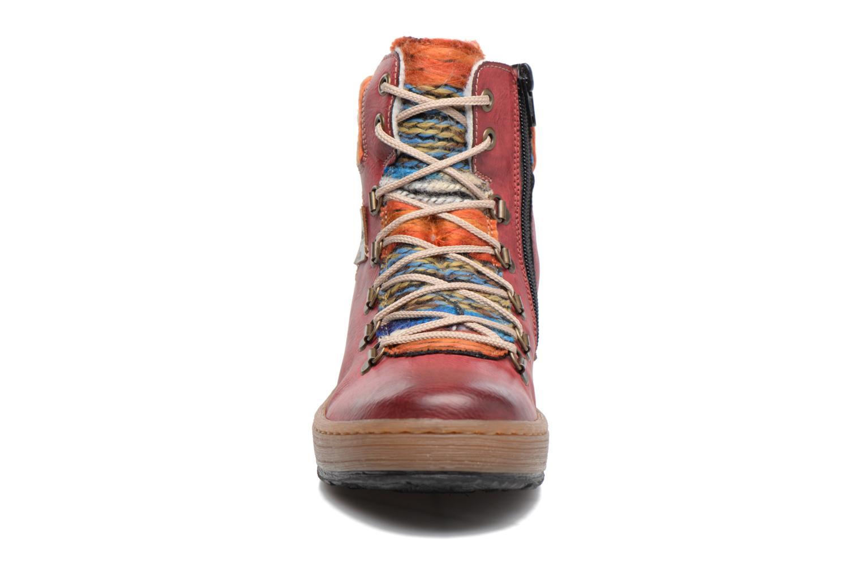 Stiefeletten & Boots Rieker Ilam Z6743 weinrot schuhe getragen