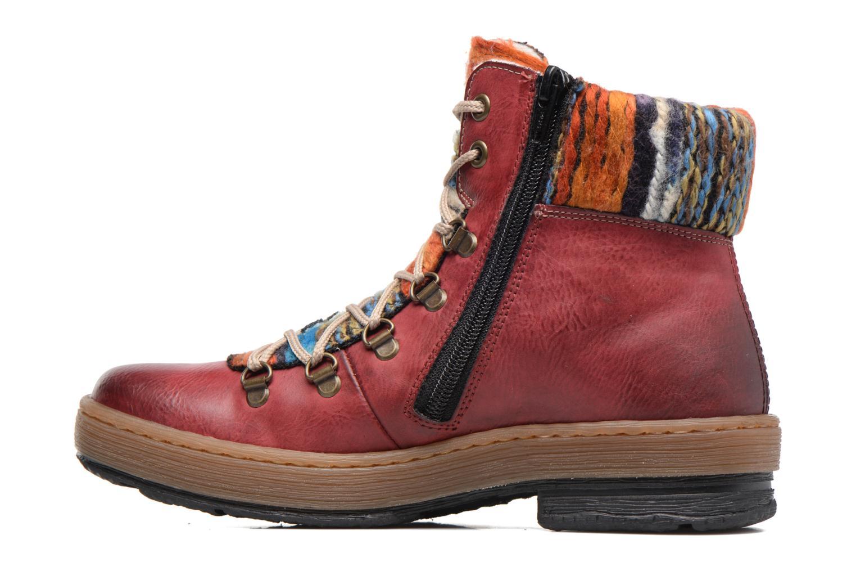 Boots en enkellaarsjes Rieker Ilam Z6743 Bordeaux voorkant