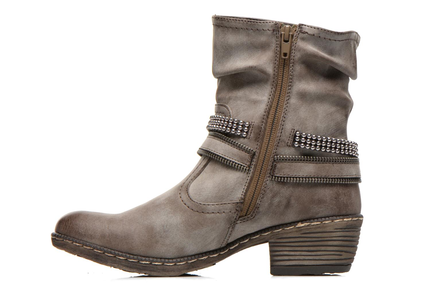 Ankle boots Rieker Kady K1496 Brown front view