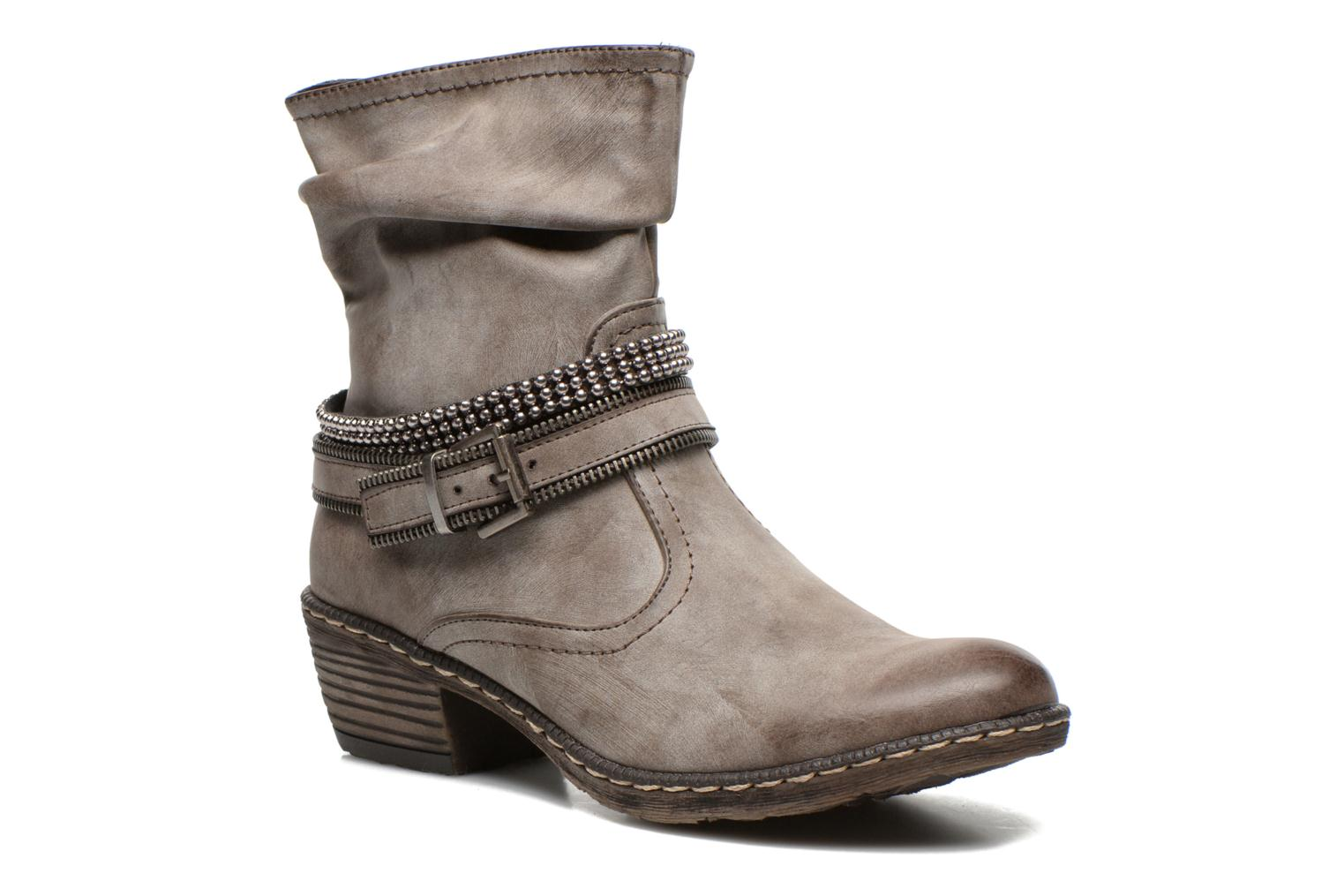 Ankle boots Rieker Kady K1496 Brown detailed view/ Pair view