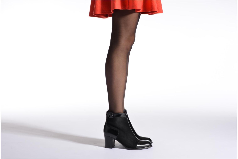 Bottines et boots Georgia Rose Domineta Noir vue bas / vue portée sac