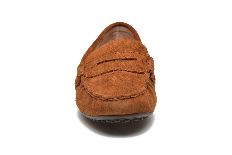 Mocassins Polo Ralph Lauren Wes-E Marron vue portées chaussures