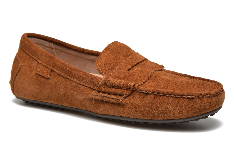 Loafers Polo Ralph Lauren Wes-E Brun detaljerad bild på paret