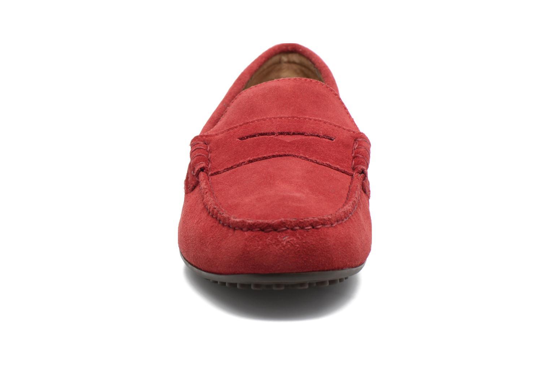 Mocassins Polo Ralph Lauren Wes-E Rouge vue portées chaussures