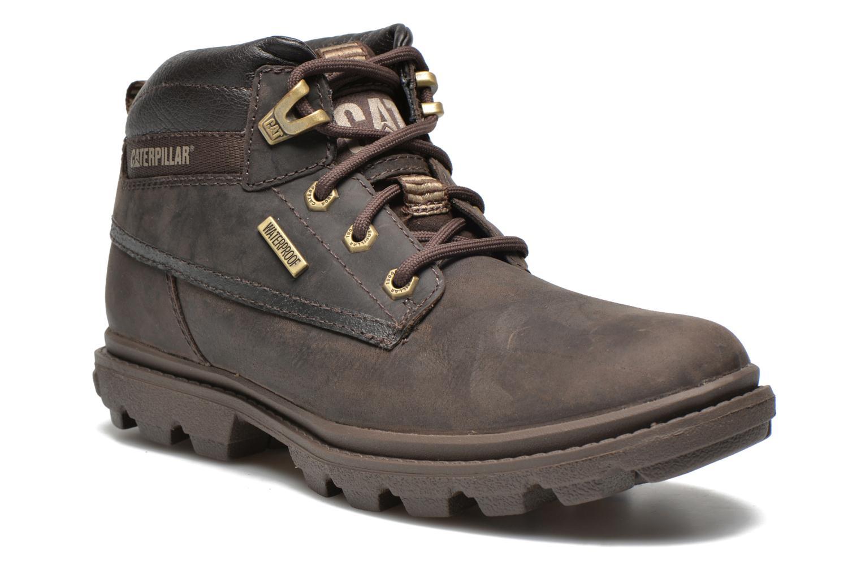 Boots en enkellaarsjes Caterpillar Grady WP Bruin detail