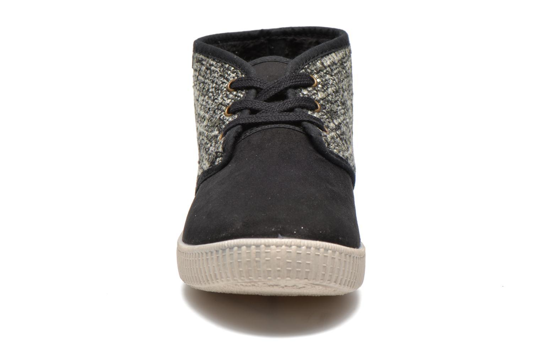 Baskets Victoria Safari Tweed Antelina Noir vue portées chaussures
