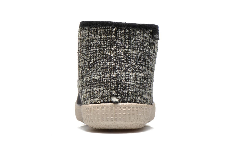 Baskets Victoria Safari Tweed Antelina Noir vue droite