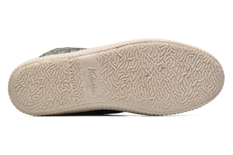 Baskets Victoria Safari Tweed Antelina Noir vue haut