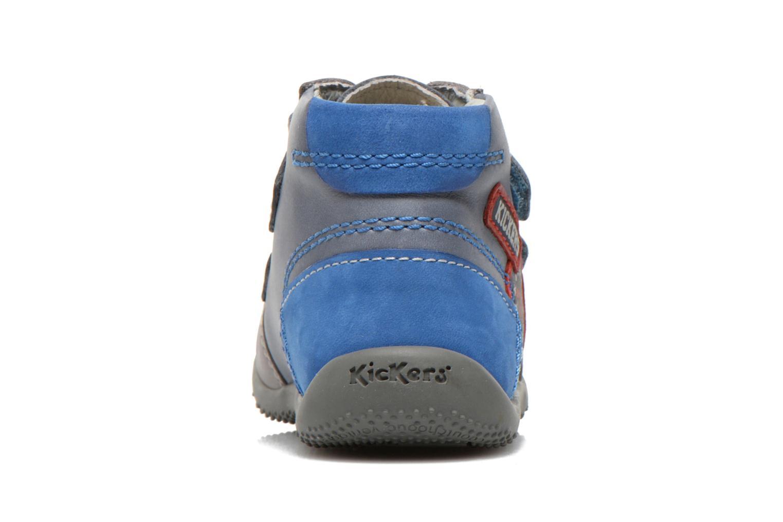 Bottines et boots Kickers Bi Too Bleu vue droite