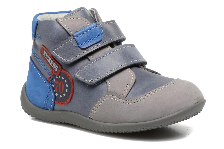 Bottines et boots Kickers Bi Too Bleu vue détail/paire