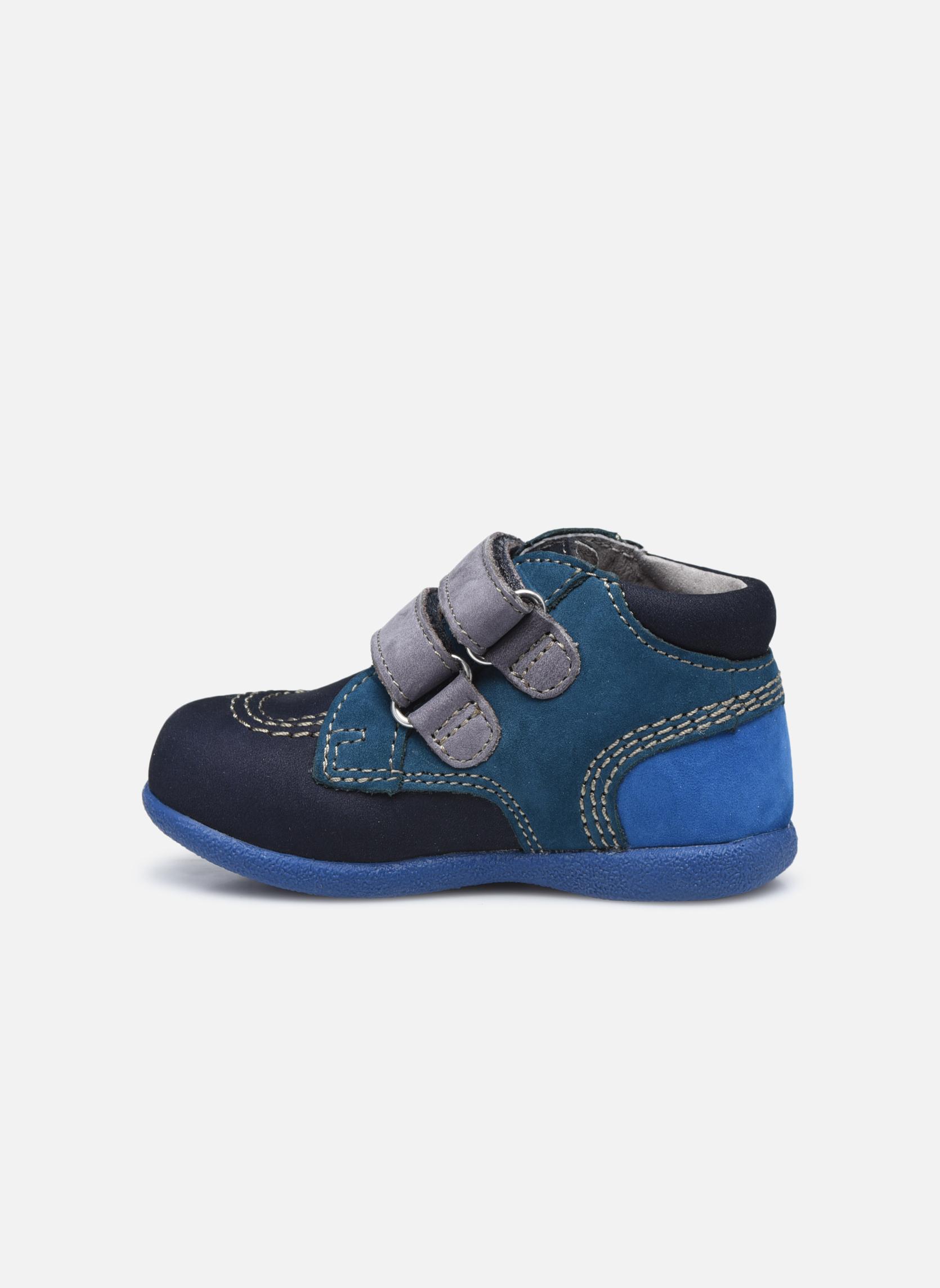Chaussures à scratch Kickers Babyscratch Bleu vue face