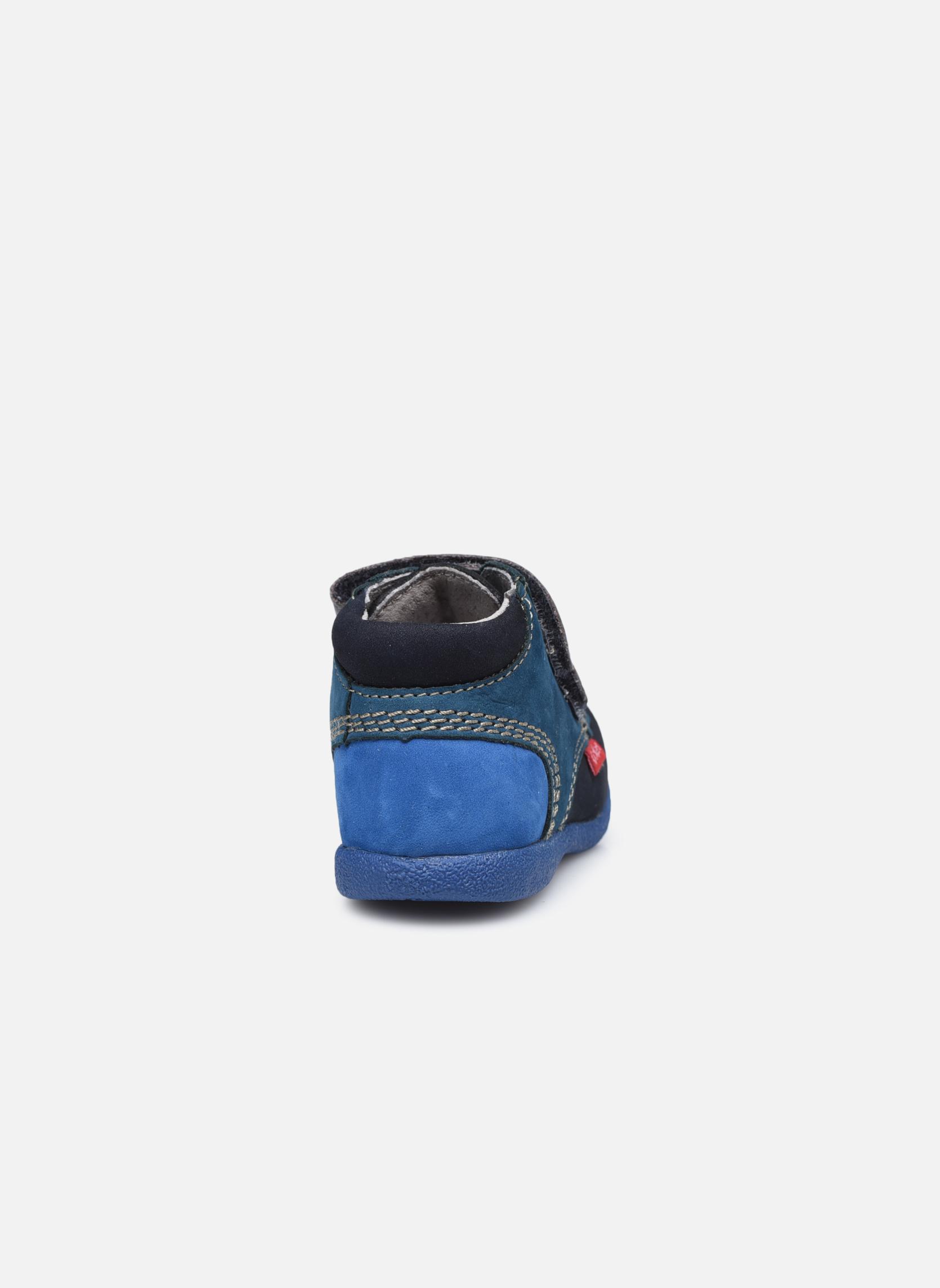 Chaussures à scratch Kickers Babyscratch Bleu vue droite