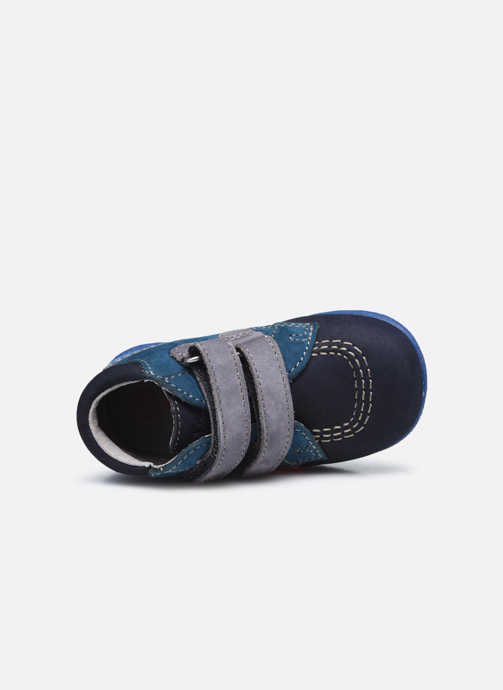 Chaussures à scratch Kickers Babyscratch Bleu vue gauche