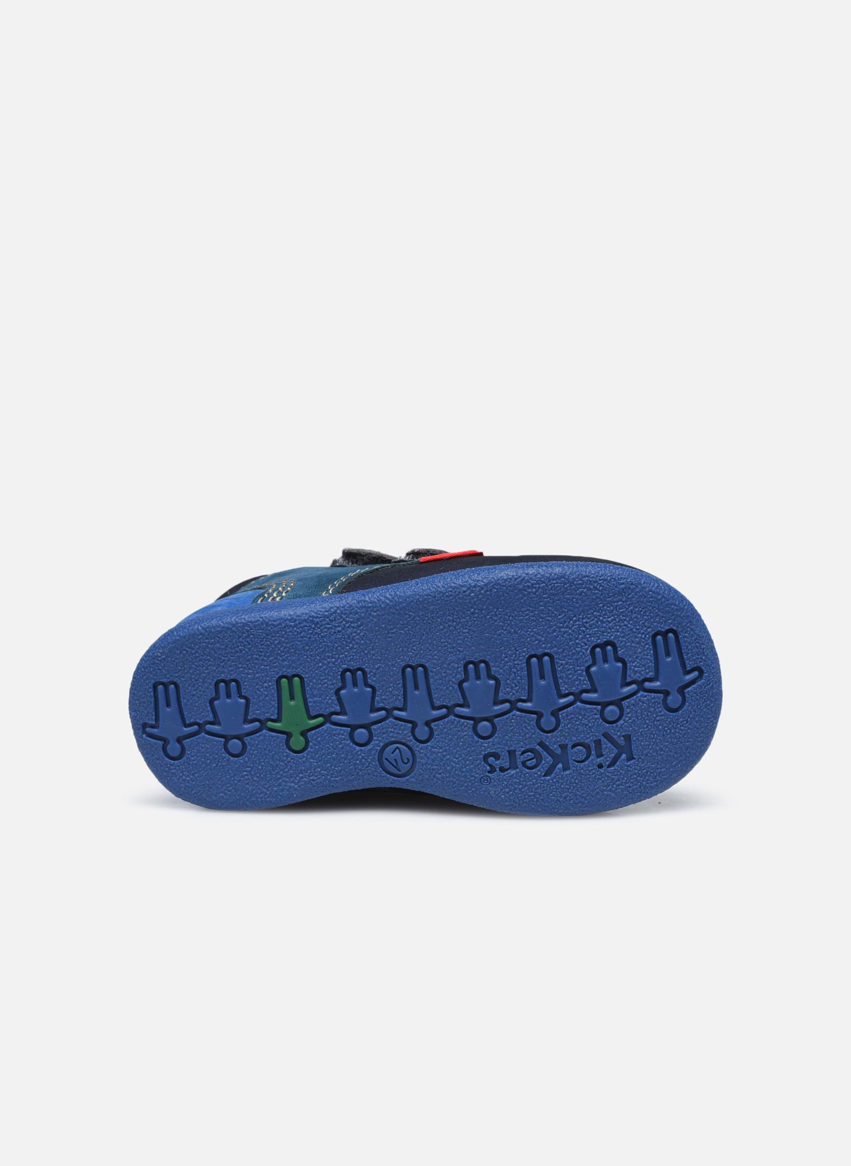 Chaussures à scratch Kickers Babyscratch Bleu vue haut