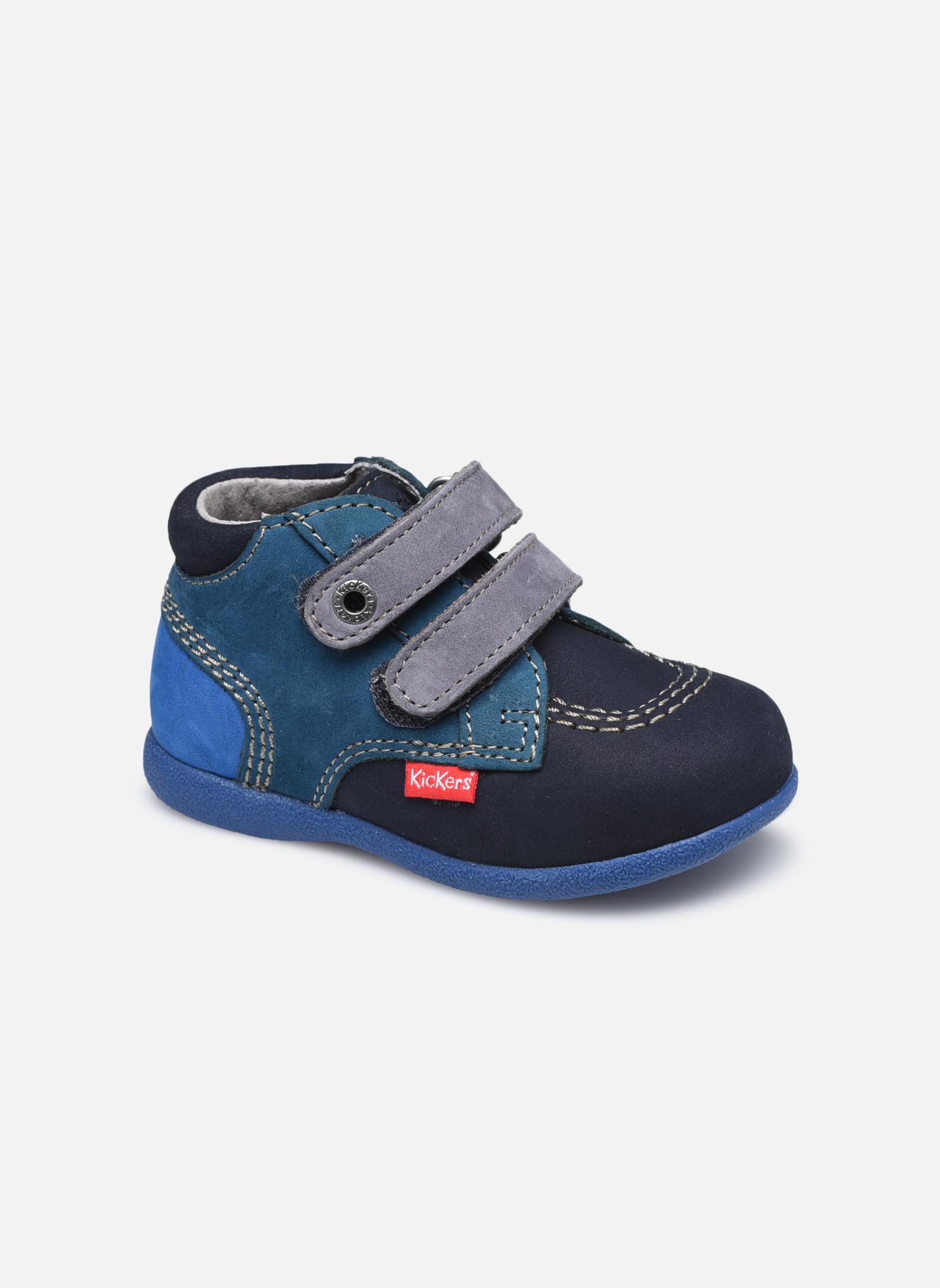 Chaussures à scratch Kickers Babyscratch Bleu vue détail/paire