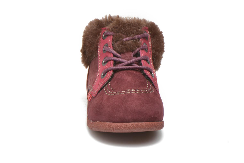 Bottines et boots Kickers Babyfrost Rose vue portées chaussures
