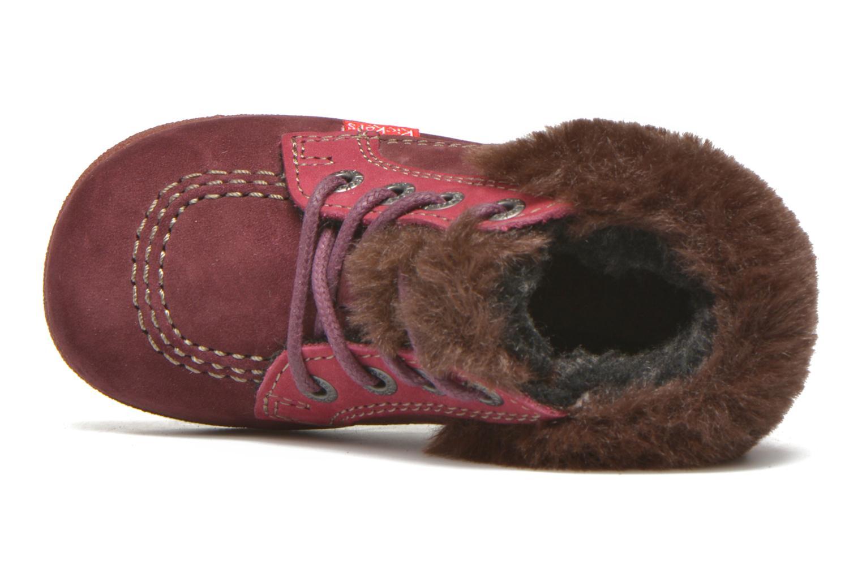 Bottines et boots Kickers Babyfrost Rose vue gauche