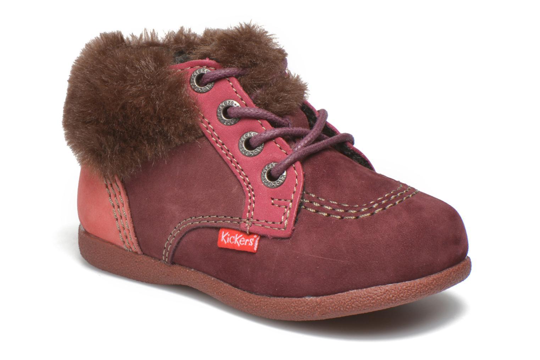Bottines et boots Kickers Babyfrost Rose vue détail/paire