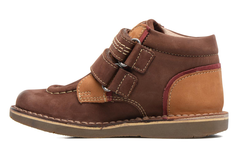 Chaussures à scratch Kickers Wapa Marron vue face