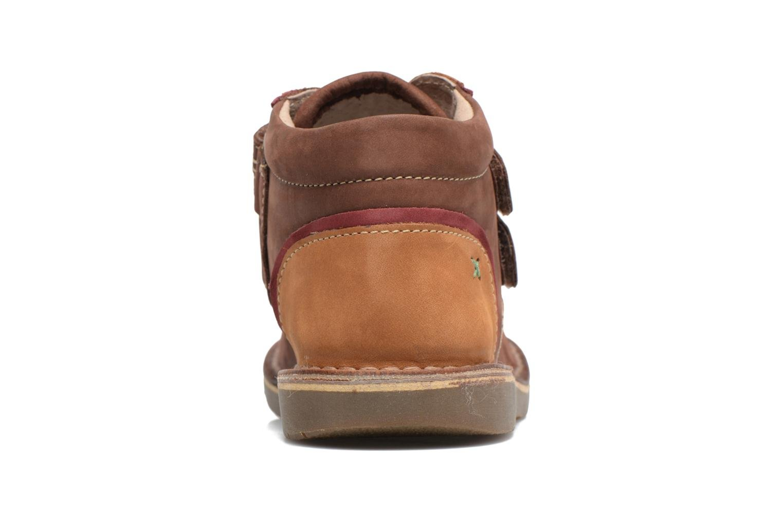 Chaussures à scratch Kickers Wapa Marron vue droite