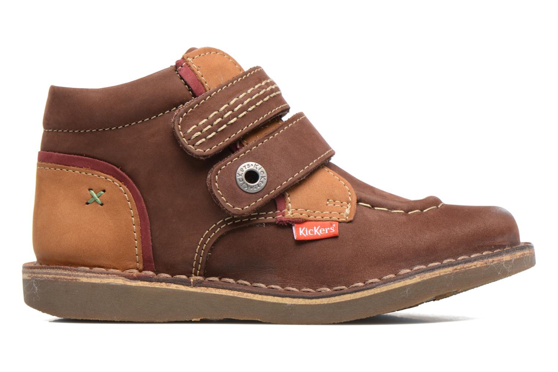 Chaussures à scratch Kickers Wapa Marron vue derrière