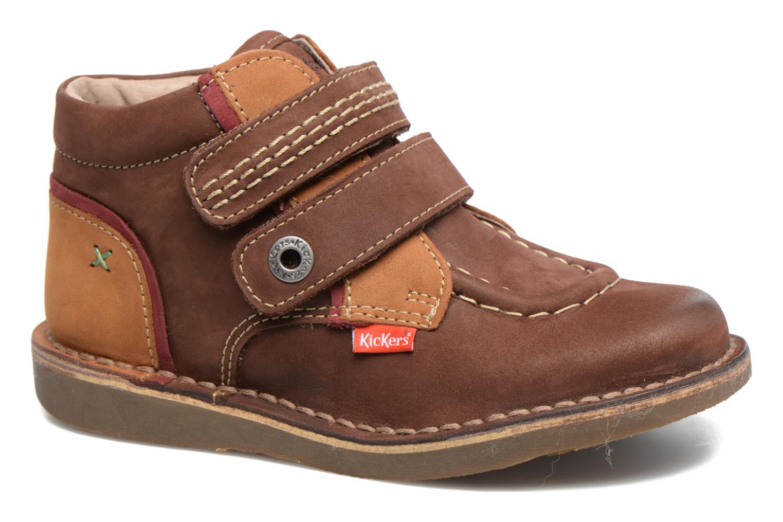 Chaussures à scratch Kickers Wapa Marron vue détail/paire