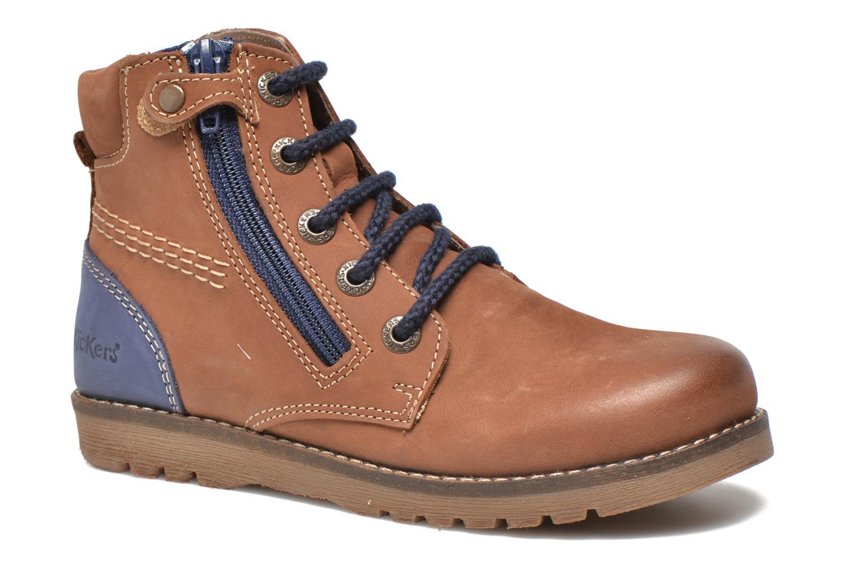 Bottines et boots Kickers Hallo Marron vue détail/paire