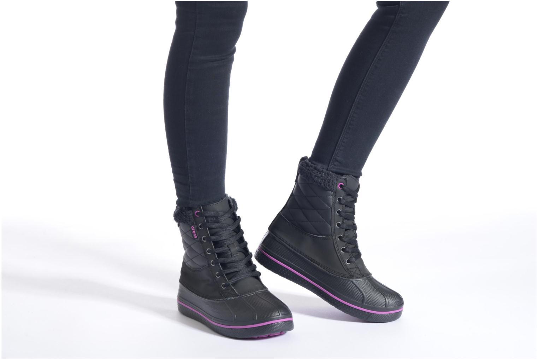 Bottines et boots Crocs AllCast Waterproof Duck Boot W Noir vue bas / vue portée sac