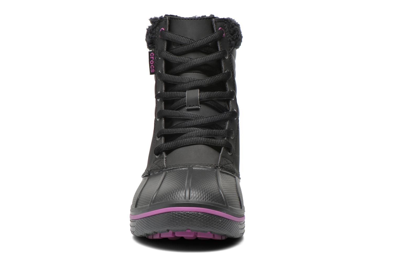 Bottines et boots Crocs AllCast Waterproof Duck Boot W Noir vue portées chaussures