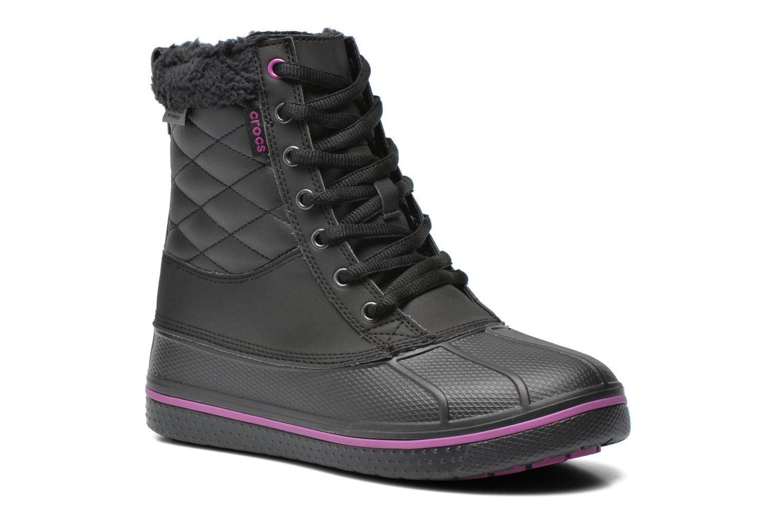 Bottines et boots Crocs AllCast Waterproof Duck Boot W Noir vue détail/paire