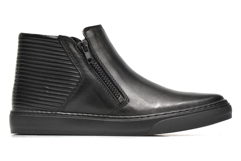 Sneakers Bronx Alyosha Zwart achterkant