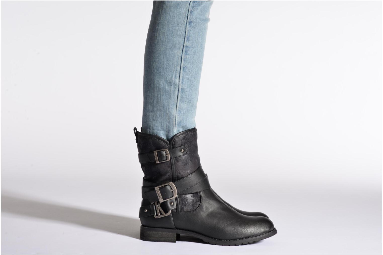 Bottines et boots Kaporal Ricky Noir vue bas / vue portée sac