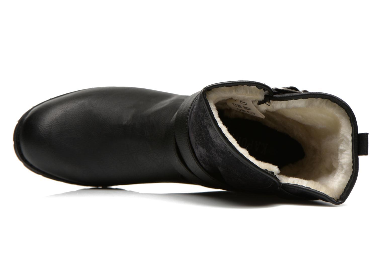 Botines  Kaporal Ricky Negro vista lateral izquierda