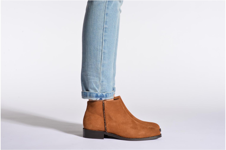 Bottines et boots COSMOPARIS Vonella Noir vue bas / vue portée sac