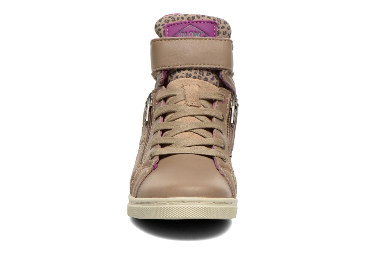 Baskets P-L-D-M By Palladium Veleda PRINT Beige vue portées chaussures