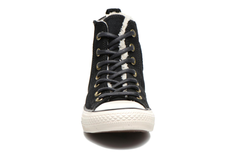 Baskets Converse Chuck Taylor Chelsee Shearling W Noir vue portées chaussures