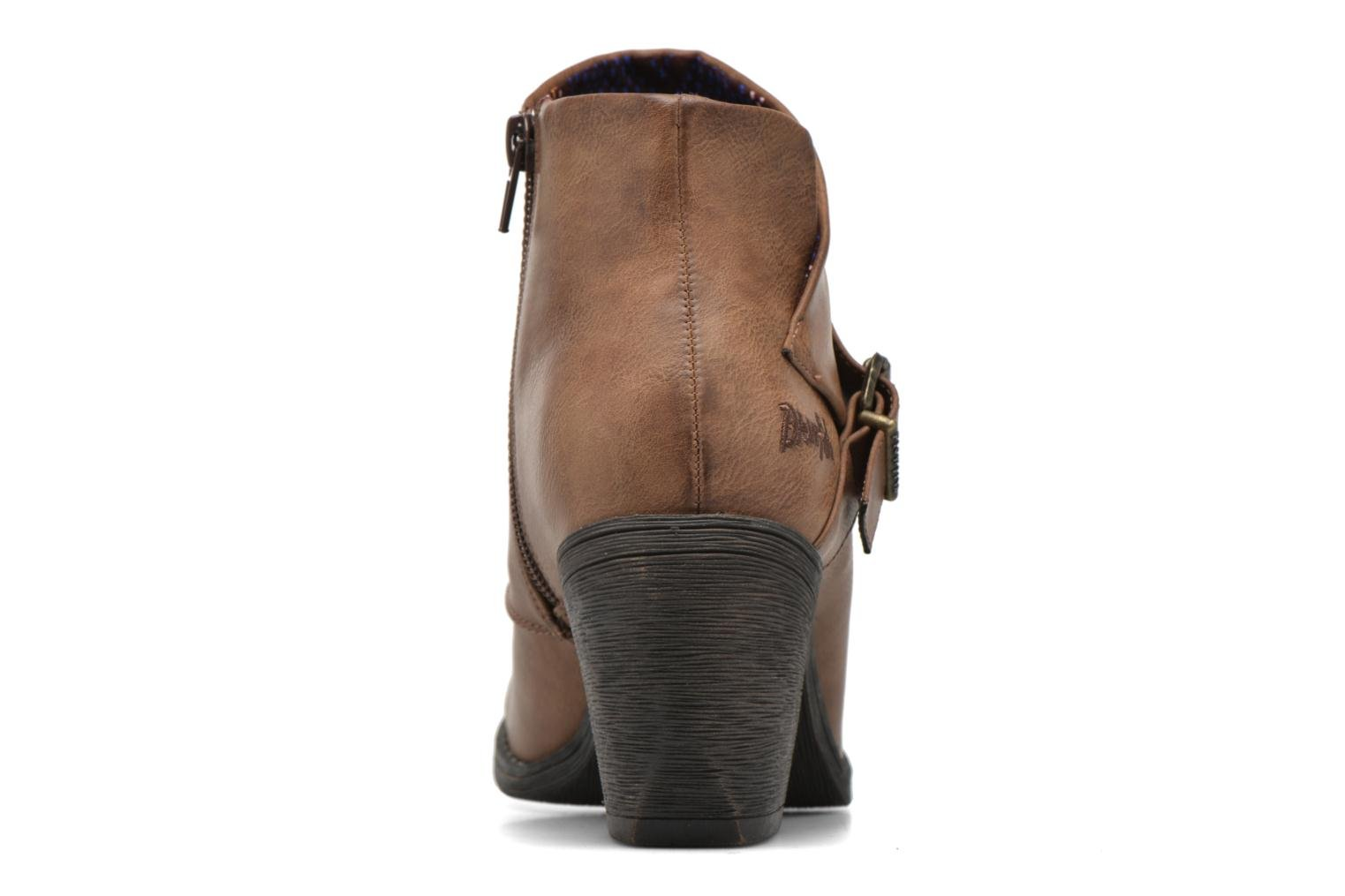 Ankle boots Blowfish Suba Brown view from the right