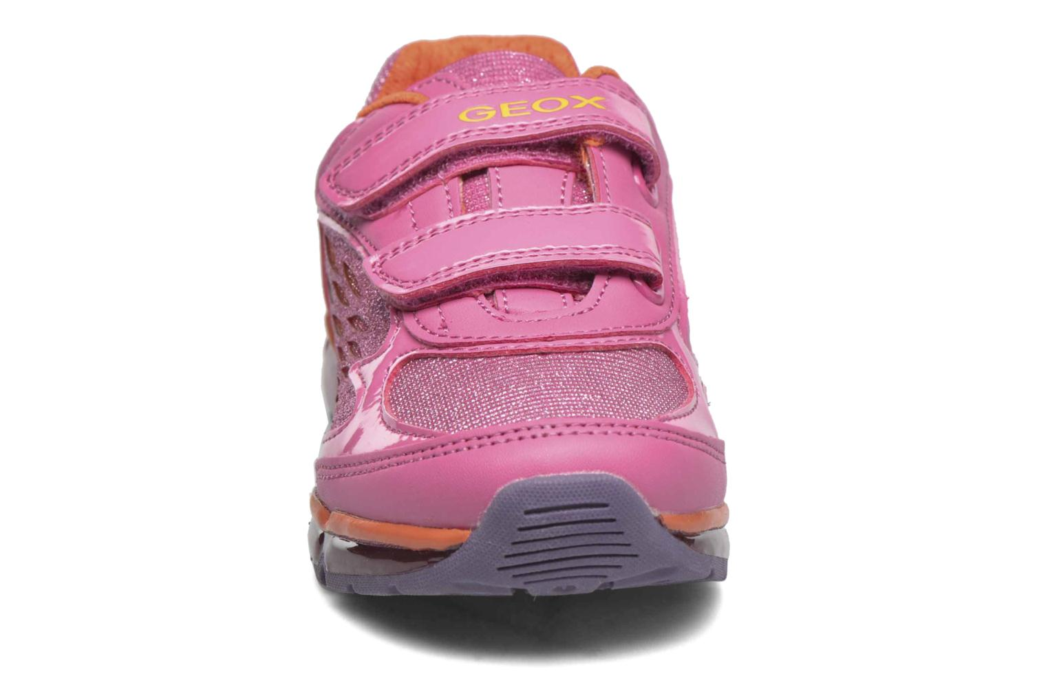 Baskets Geox J Android G Rose vue portées chaussures