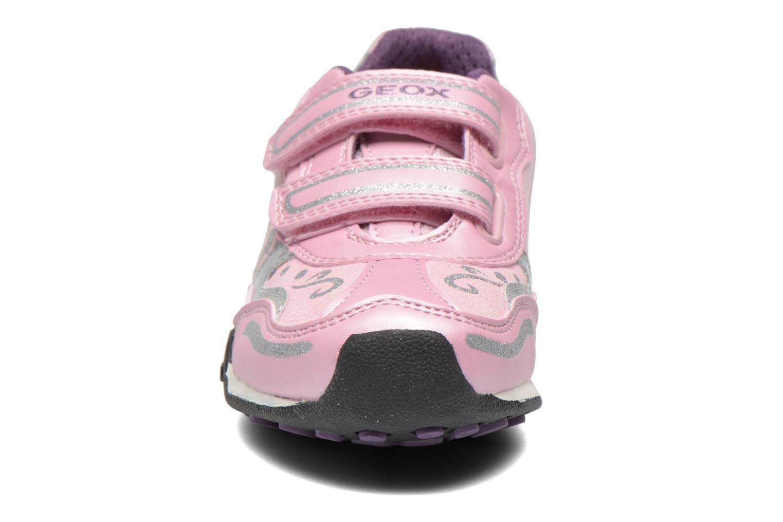 Baskets Geox J N.Jocker Rose vue portées chaussures
