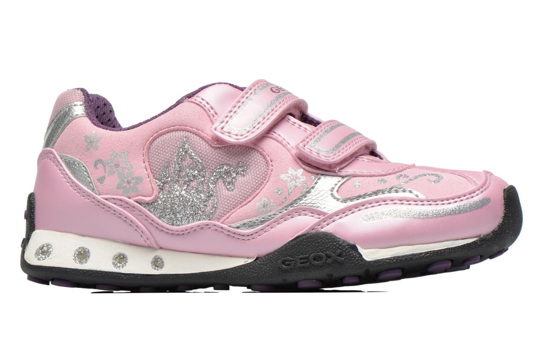 Sneaker Geox J N.Jocker rosa ansicht von hinten
